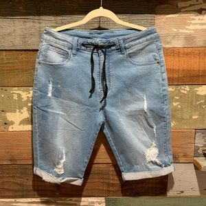 Distressed Denim shorts by GUESS